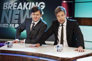 Fredrik Wikingsson och Filip Hammar. Foto: Kanal 5.