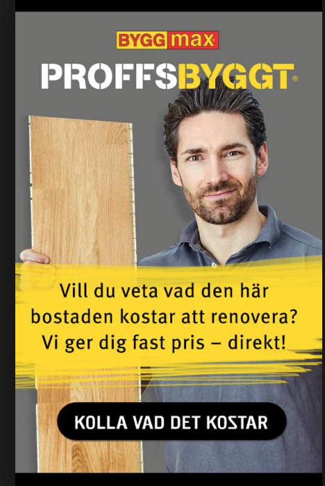 Pär Nilsson i Byggmax-reklam.