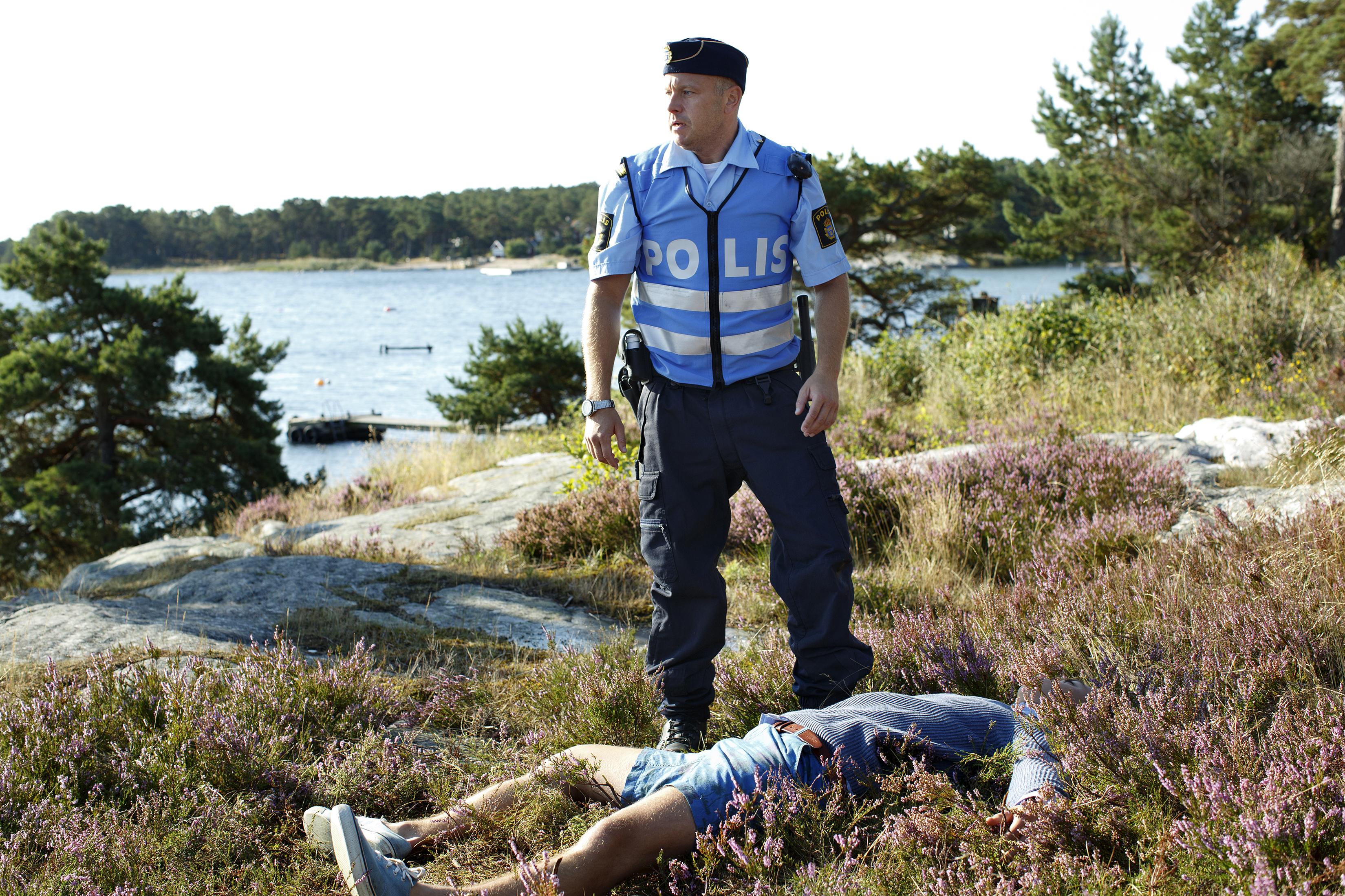 "Fredrik Hallgren i ""Morden i Sandhamn"". Foto: TV4."