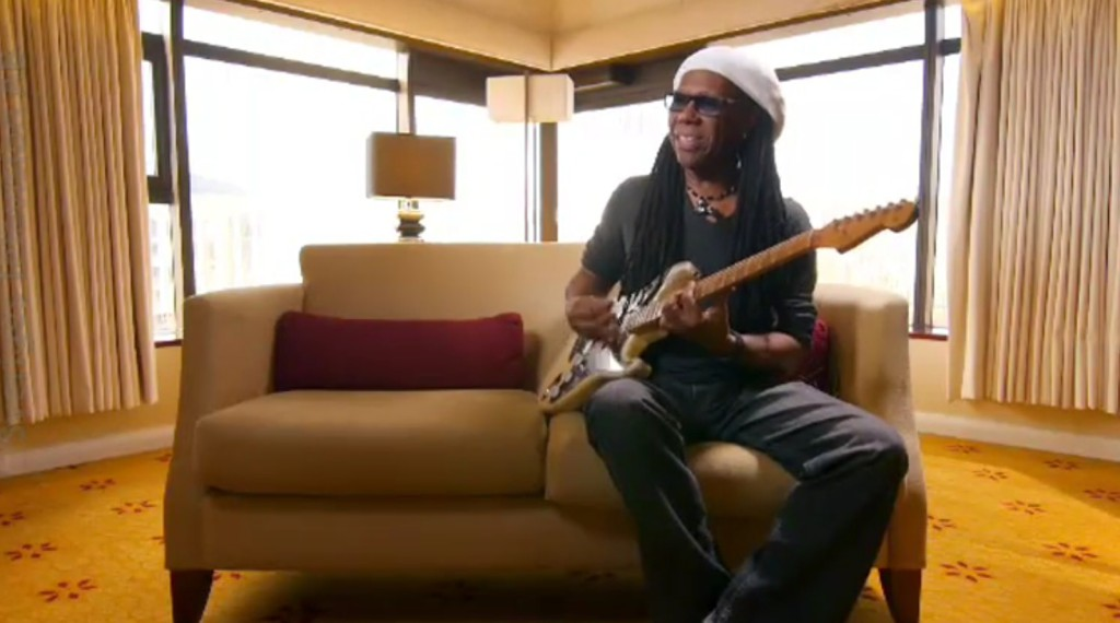 Nile Rodgers. Funkig snubbe.