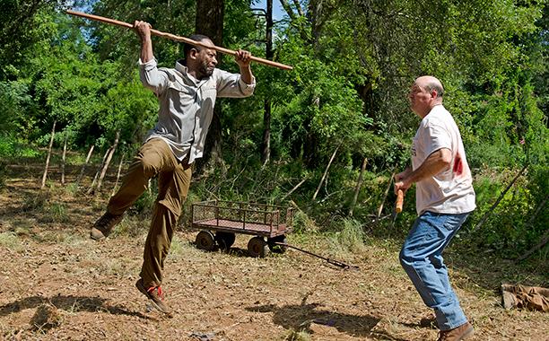 Morgan och Eastman tränar Aikido.