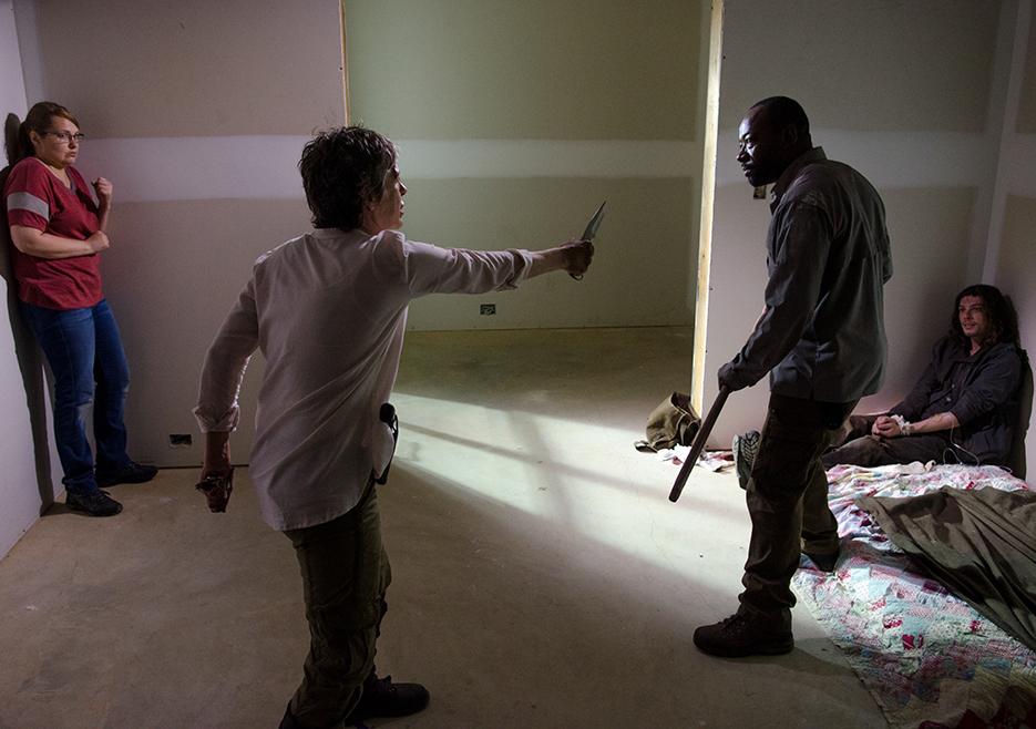 Carol och Morgan i en liten duell.