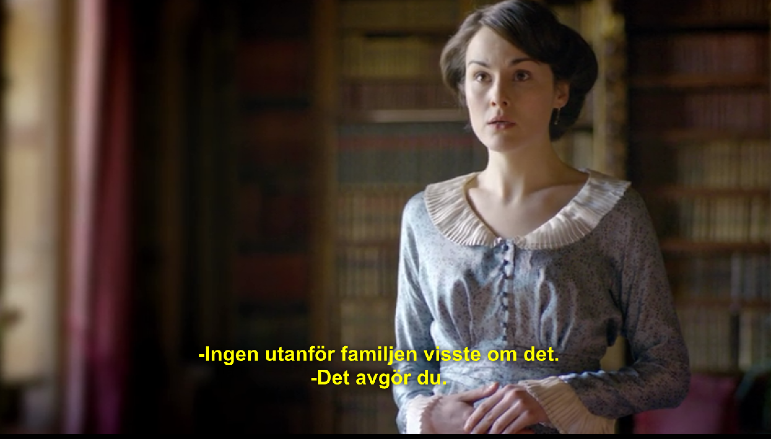 "Lady Mary i första avsnittet av ""Downton Abbey""."