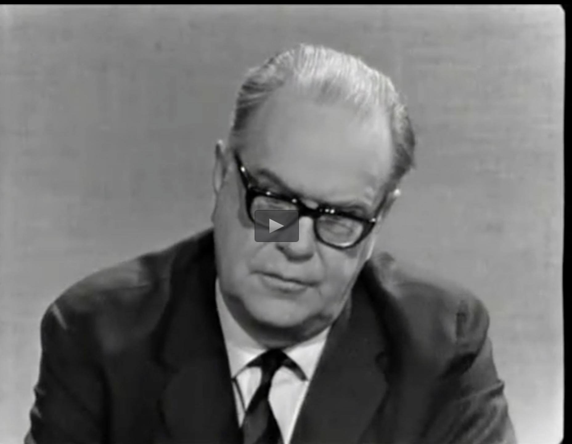 Tage Erlander. partiledare för Sveriges socialdemokratiska arbetareparti och Sveriges statsminister 1946–1969.