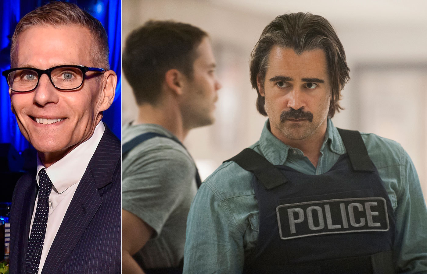 """Michael Lombardo och Colin Farrell i """"True detective"""". Foto: ALL OVER PRESS/HBO"""