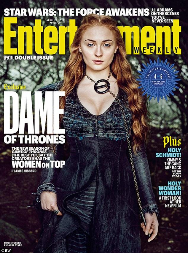 Sophie Turner som Sansa Stark. Foto: EW