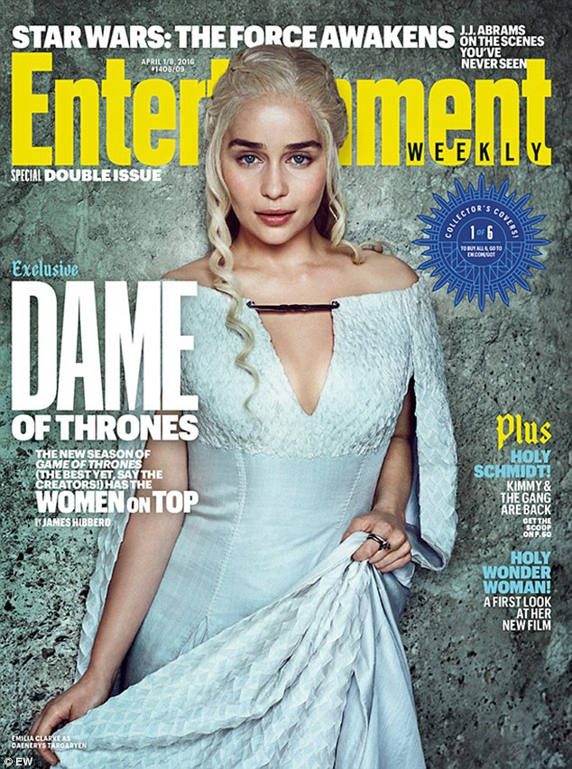 Emilia Clarke som Daenerys Targaryen. Foto: EW
