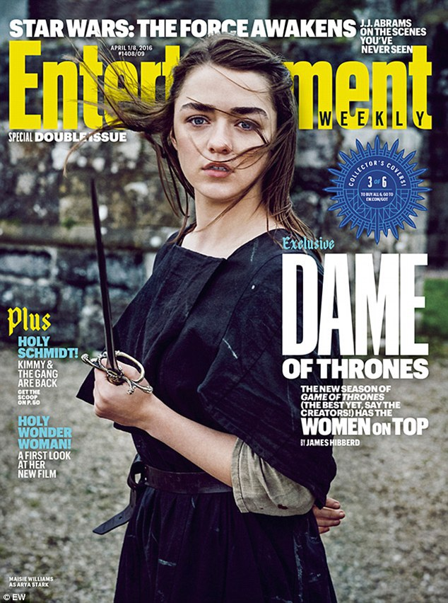 Maisie Williams som Arya Stark. Foto: EW