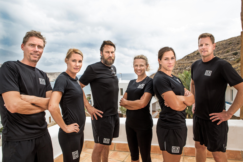 Jörgen Persson, Hanna Marklund, Peter Forsberg, Karolina Höjsgaard, Caroline Ek och Niklas Jihde. Foto: Janne Danielsson/SVT
