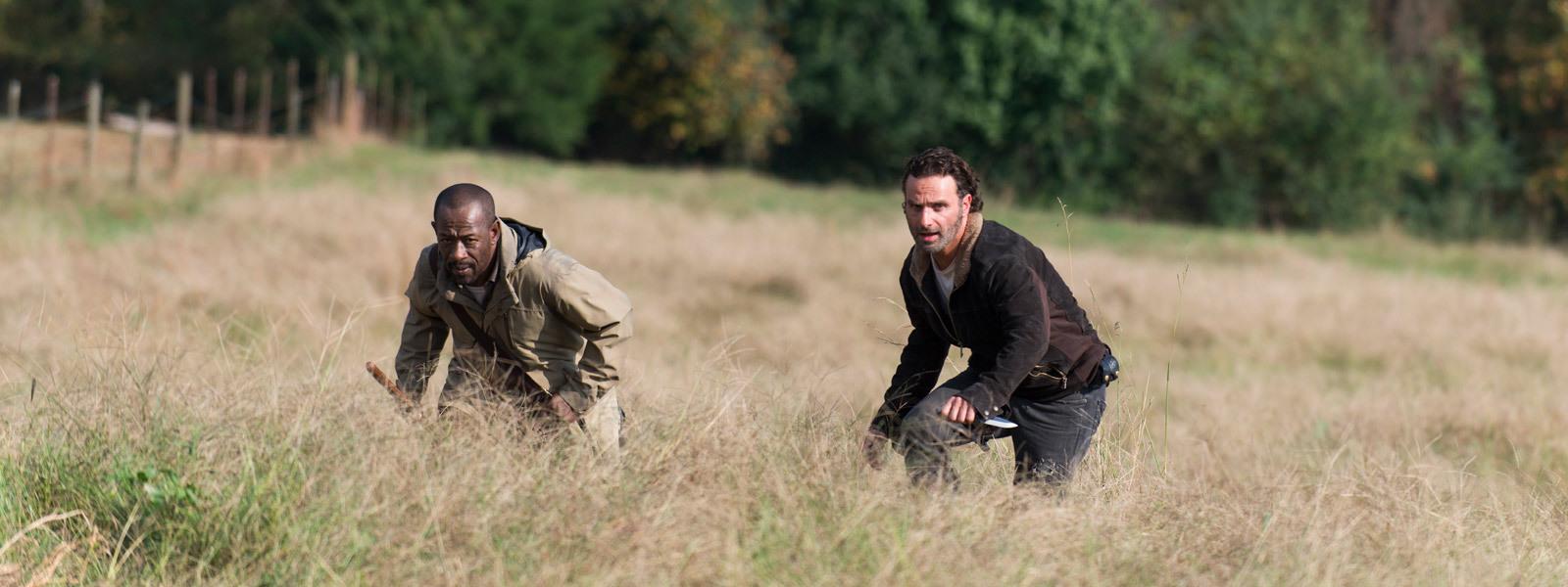 Morgan och Rick på utflykt.