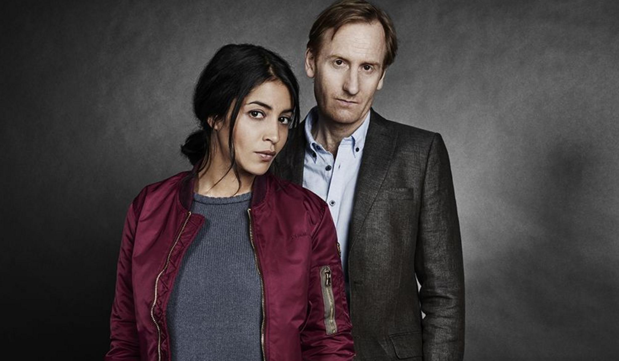 """Leila Bekhti och Gustaf Hammarsten i """"Jour Polaire/Midnattssol"""". Foto: Canal +/SVT"""