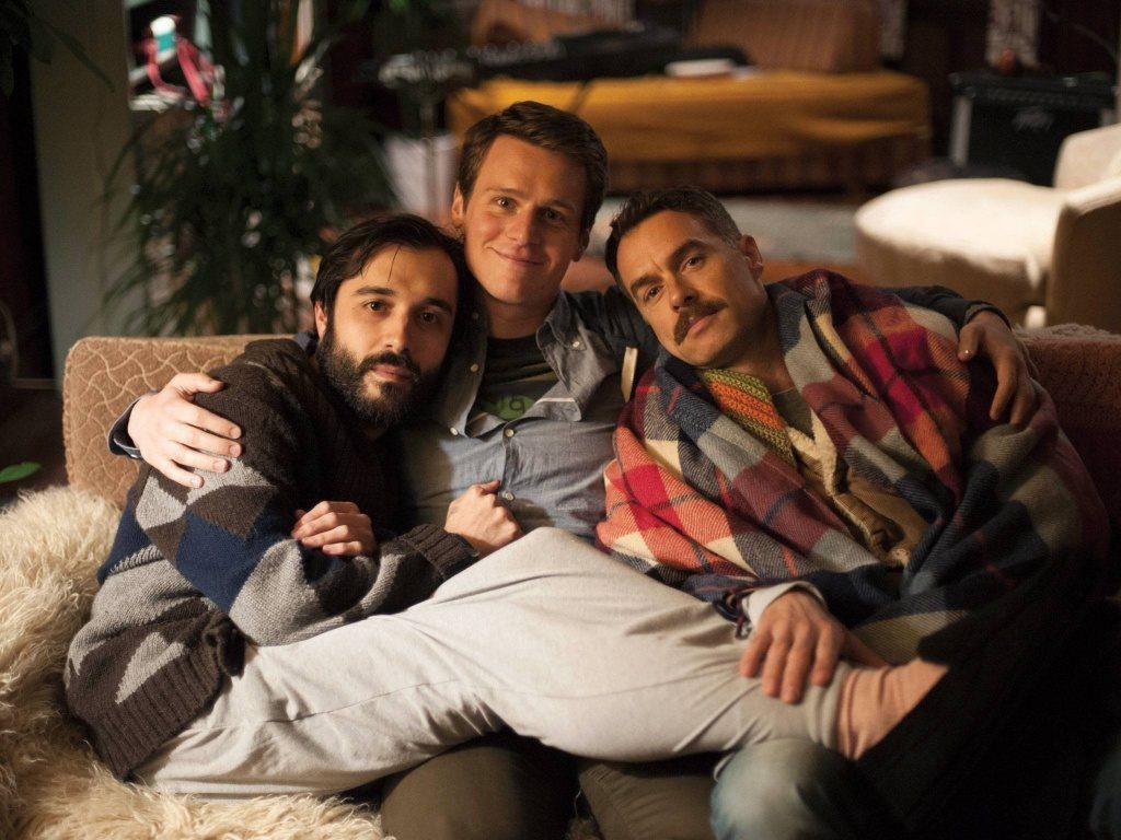 """Looking""-trion Agustín (Frankie J. Alvarez), Patrick (Jonathan Groff) och Dom (Murray Bartlett)"