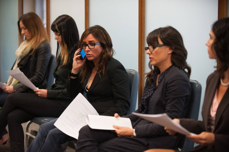 "BETTER THINGS ""Sam/Pilot"" Episode 1 (Airs Thursday, September 8, 10:00 pm/ep) -- Pictured:  (center) Pamela Adlon as Pam. CR: Colleen Hayes/FX"