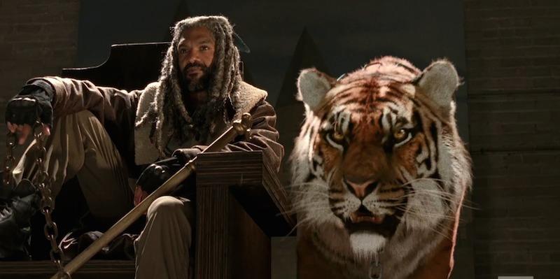 Kung Ezekiel och hans tiger.