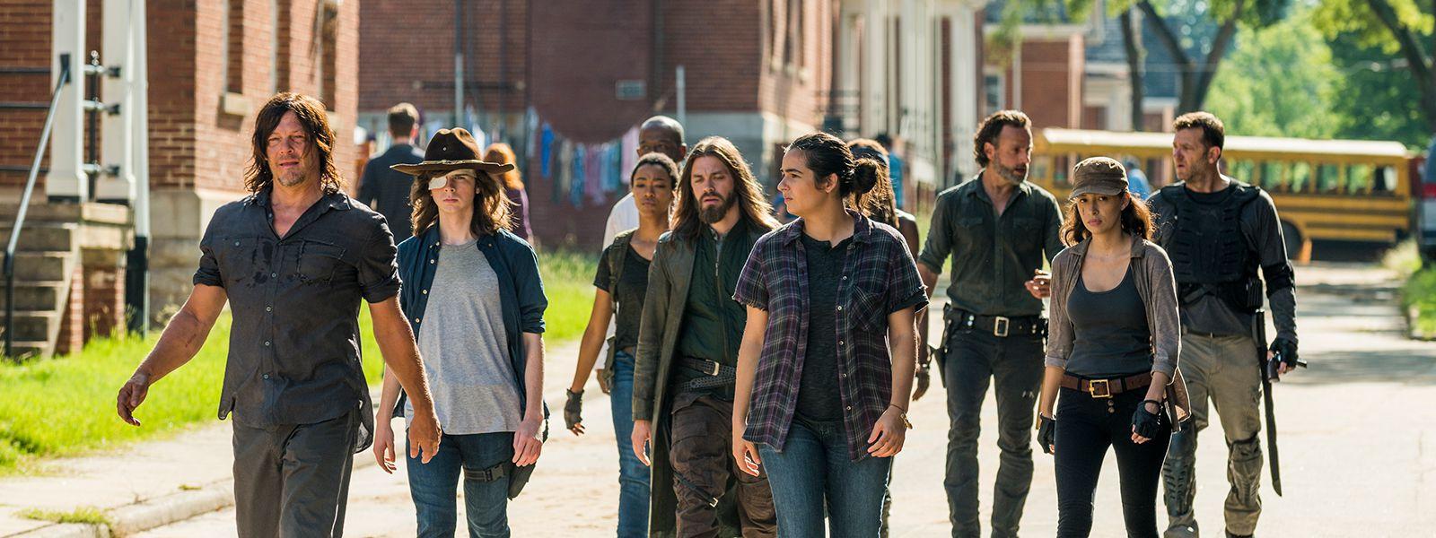 """Rick Grimes och gänget är på banan igen i """"The walking dead""""."""