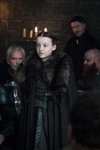 Bella Ramsey som übercolla lilla Lyanna Mormont.
