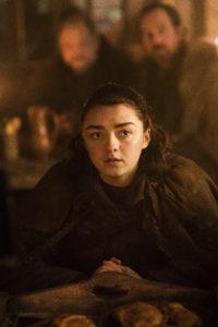 Maisie Williams som Arya Stark.
