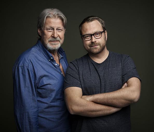 Rolf Lassgård och regissören Jens Jonsson.
