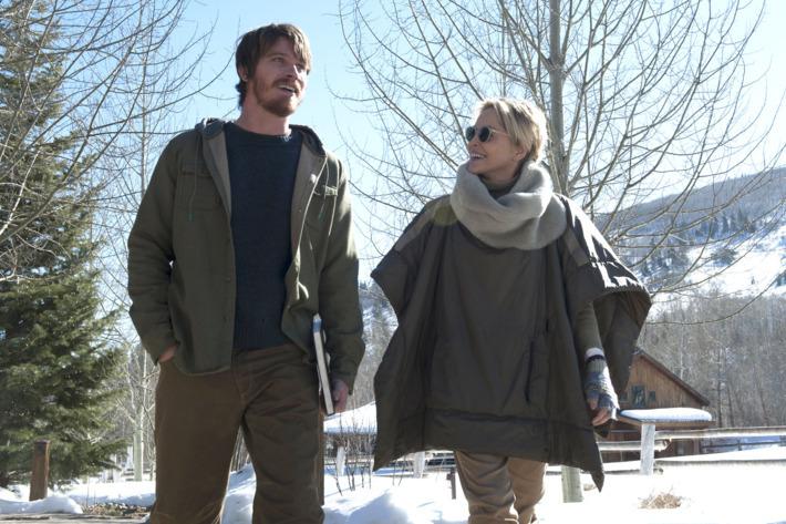 Garrett Hedlund och Sharon Stone. Foto: HBO.